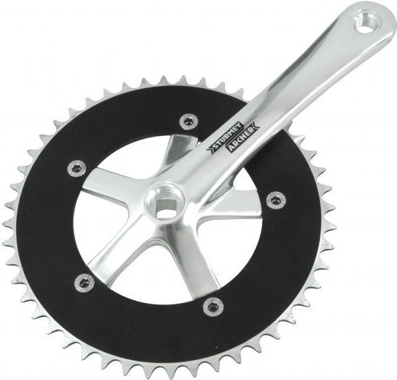 STURMEY ARCHER FCS75 44T Crankset with Double Chain Guard Single Speed Chainset