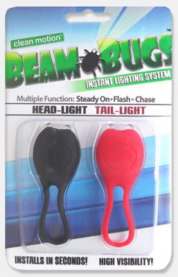 Clean Motion Lbbh1 Beam Bugs Wrap-Around Led Headlight Black