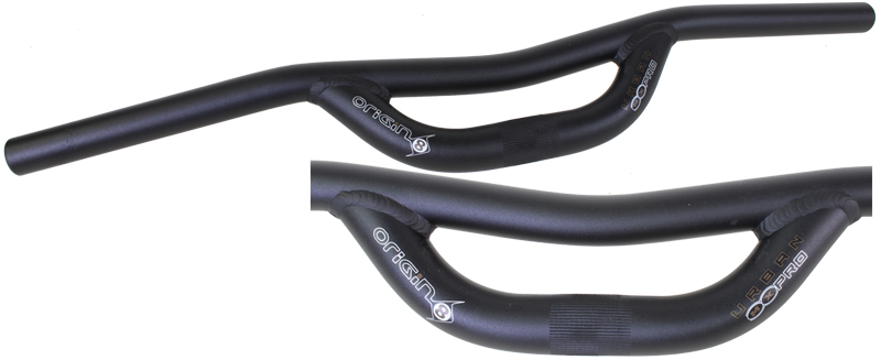 MOUNTAIN BIKE BLACK ALLOY HI-RISE RISER HANDLEBAR 25.4